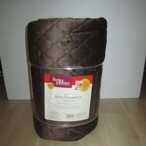 Plush King Quilted Coverlet